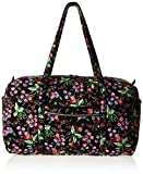 Vera Bradley Women's Signature Cotton Large Travel Duffel Bag, Winter Berry, One Size