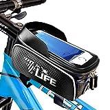 7ForLife - Fahrrad Rahmentasche WASSERDICHT mit Handyhalterung für Smartphones bis 6,7 Zoll - Ideal zur Navigation - Fahrrad Lenkertasche mit Touchscreen für perfekte Bedienung