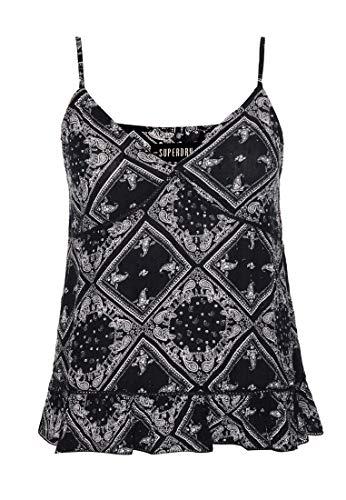 Superdry Summer Cami Top Chemise, Noir (Black AOP Yfc), L Femme