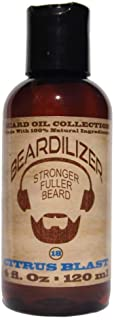 Beardilizer Beard Oil Collection - #18 Citrus Blast 4 Oz - Made with 100% Natural Ingredients
