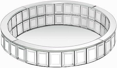 Decorative Vanity Trays-Decor Mirrored Mosaic Circle Vanity Tray In Brown