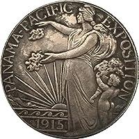 コインコレクション記念コイン1915年米国記念コインコイン銅メッキシルバーアンティークメモリアルコインラッキーコインクラフト