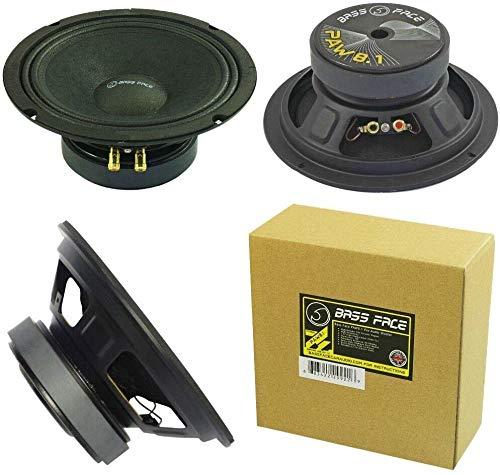 "BASS FACE PAW8.1 Paw 8.1 Altavoz difusor de medio bajo woofer 20,00 cm, 200 mm 8"" de diàmetro 200 watt rms 400 watt max impedancia 4 ohm para casa dj spl auto sensibilidad 98 db"