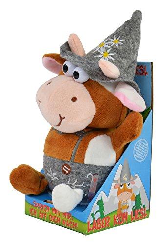 Kögler 75624 - Laber Kuh Liesl, Labertier mit Aufnahme- und Wiedergabefunktion, plappert alles witzig nach und bewegt sich, ca. 18,5 cm groß, ideal als Geschenk für Jungen und Mädchen