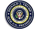 American Vinyl Round Donald J Trump 45th US President Sticker (Seal pro Logo)