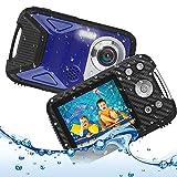 Underwater Camera for Kids, Waterproof Digital Camera, Heegomn 2.8' LCD Screen 16MP 1080P Digital Video Camera Camcorder for Teenagers Students Gifts (Blue)