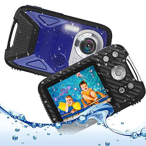 "Underwater Camera for Kids, Waterproof Digital Camera, Heegomn 2.8"" LCD Screen 16MP 1080P Digital Video Camera Camcorder for Teenagers Students Gifts (Blue)"