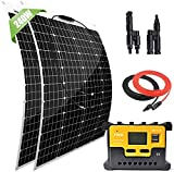 Giosolar 200 Watt 12 Volt Solar Marine Kit Monocrystalline Panel with 20A LED...
