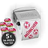 Klopapier Münchner Abpfiff (5 Rollen XXL-Sparpack)   Dieses Toilettenpapier Macht das Klo von S04-, Dortmund- & Fußball-Fans zur Bayern-Kultschüssel   Geschenkidee für Männer & Freunde