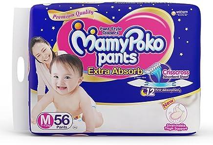 MamyPoko Pants Extra Absorb Diapers, Medium (Pack of 56)