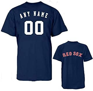 Majestic Athletic Boston Red Sox MLB Officially Licensed 100% Cotton Crewneck (Name & Number on Back) Youth Large