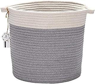 Hinwo Ovale Corde en Coton Pliable Panier de Rangement Chambre d'enfant Boîte de Rangement Container Organiseur avec poign...
