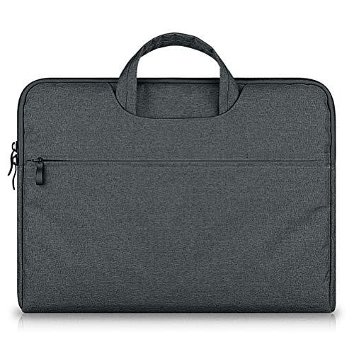 Bigtreefrog Funda para portátil de 13,3 pulgadas, con asa protectora para portátil de 13,3 pulgadas, MacBook Pro de 13,3 pulgadas, ThinkPad Lenovo, Asus Acer Dell HP, gris oscuro