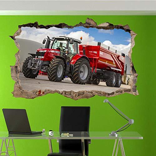 Etiqueta De La Pared 3D -Poderosas Pegatinas De Pared De Tractor Moderno Art Mural Decoración De Oficina Para El Hogar Tq1 Vinilos Pared, Decoracion Hogar 80x125cm