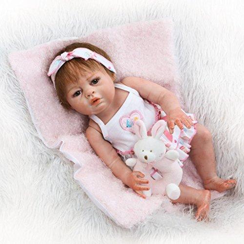 Nicery Reborn Baby El renacimiento de la muñeca de alto vinilo Magnetic Mouth 20 pulgadas de 48-50 cm niños amigo Lifelike Vivid niño niña juguete gx50z-13go