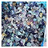 YINGNBH Cristallo Grezzo Rainbow Fluorite Chips Cristalli Pietre curative all'Ingrosso Naughty Lucido Naturale per la Decorazione (Color : 100g, Size : 7-9mm)