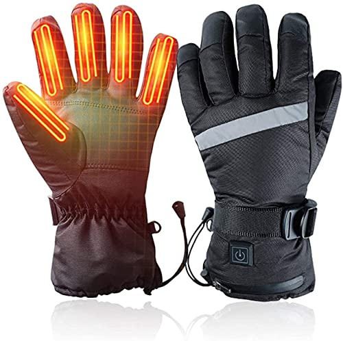 QMJHHW Heated Gloves 3 Files Adjustable Temperature Electric Hand Warmers Heating Thermal Gloves for Winter Warmer Outdoor Camping Hiking Hunting, Works Up to 3-6 Hours