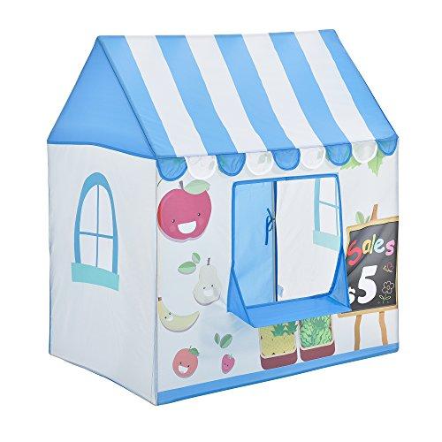 [casa.pro]® Spielzelt Verkaufsstand Bällebad 110 x 100 x 70 cm Kinderzelt Babyzelt Spielhaus Zelt mit Motiv