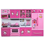 WISHKEY Battery Operated Cartoon Character Kitchen Play Set Toy for Kids