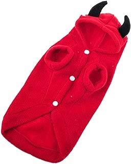 Norbi Pet Dog Halloween Devil Cosplay Costume Fleece Hooded Coat Funny Halloween Jacket