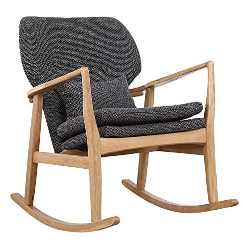 H.aetn Chaise berçante Adulte Chaise extérieure Moderne en Bois Massif Vieux Salon Balcon Chaise Portant Poids 200 kg - Couleur Bois