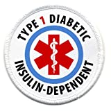 TYPE 1 DIABETIC Insulin Dependent Medical Alert 3 inch Patch