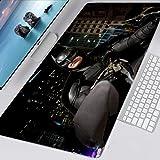 Jocmy Bruce Wayne Batman Tapis de souris 900 x 400 cm Grand tapis de souris de gaming Anime Tapis de souris en caoutchouc nylon imperméable et antidérapant (jeu 6,800 x 300 x 3 mm)