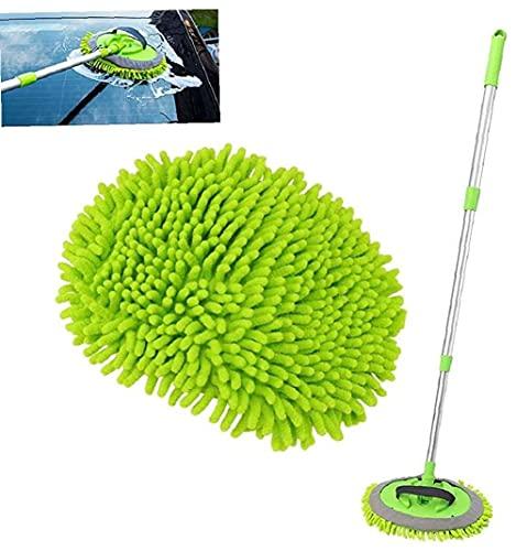2 en 1 cepillo cuidado Car Wash suave fregona ventana del veh¨ªculo de limpieza telesc¨pico ajustable para el lavado de coches, camiones, RV.