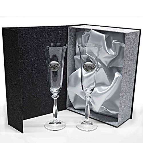 Set de 2 Copas de Cristal para champán - para Novios -...