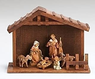 Fontanini 7 Piece Italian My First Nativity Creche with Stable 54780 Made Italy