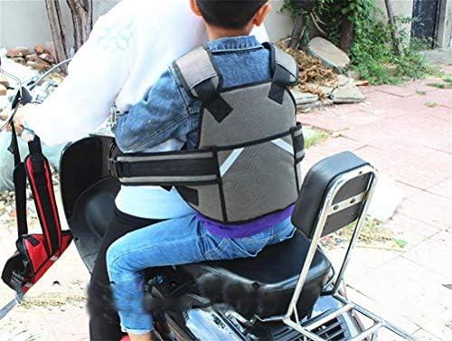 Zwr Harnais Oxford Moto Ajustable Avec Poign/ée Pour Enfant Color : Black Gilet Pour Enfant