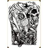 Handaxian Pegatinas de Tatuaje de Espalda Completa Pegatinas de Tatuaje de Tinta de Tatuaje de Sirena 2 Piezas MB-012 340 * 480MM