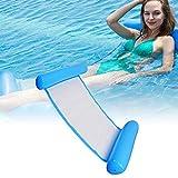 CINSEY Cama inflable plegable, colchoneta de agua, tumbona para piscina, tumbona hinchable para piscina para adultos y niños, color azul