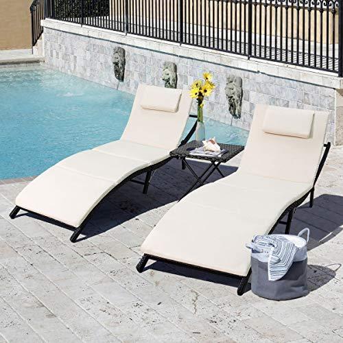 Tuoze Outdoor Sets Adjustable Rattan Patio Chaise...