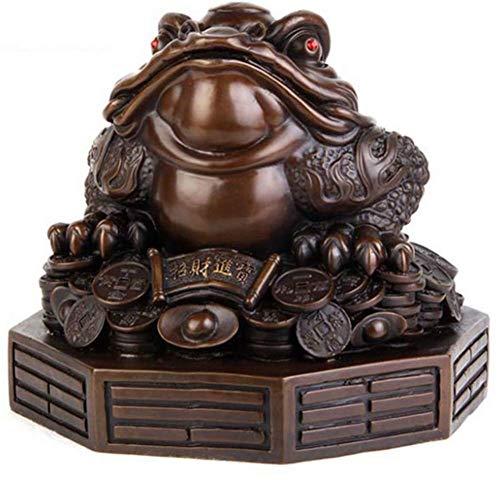 WNTHBJ Pure Koper Gossip Seven-Star CHANCHU Ornamenten, Goud CHAN Decoraties, Geld Lucky Kikker Geld Chinese Bedel Welvaart Home Decoratie