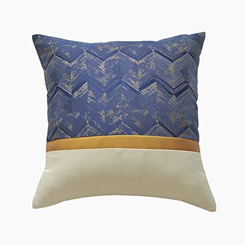 HIGHKAS Cushion Covers 45 x 45 cm, Decorative Square Gold Stitching Sofa Couch Throw Pillow Covers for Sofa Bedroom Livingroom