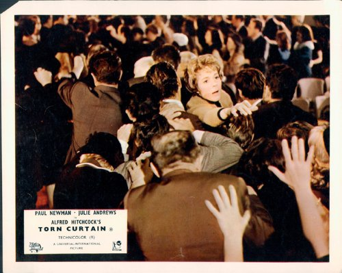 Cortina rasgada Alfred Hitchcock Julie Andrews vestíbulo tarjeta
