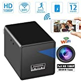 OVEHEL Spy Camera Wireless Hidden WiFi Camera with Remote Viewing 1080P HD Nanny Cam Security Camera USB Charger Camera Indoor Video Recorder Motion Activated Support iOS/Android App