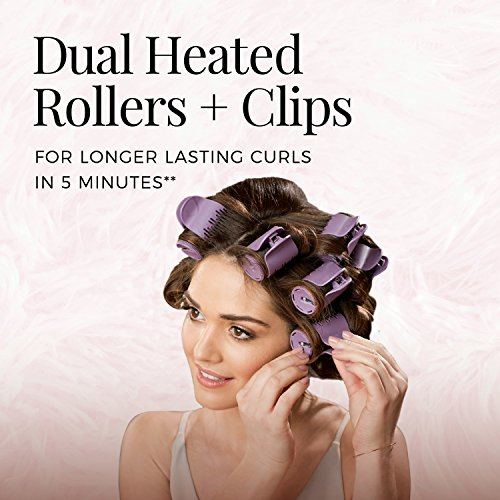 """REMINGTON H9100S Pro Hair Setter with Thermaluxe Advanced Thermal Technology, Electric Hot Rollers, 1-1 ¼"""", Purple"""
