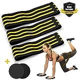 LASCOTON Fitnessbänder Set Resistance Bands mit 2 Gleitscheiben Gymnastikband krafttraining