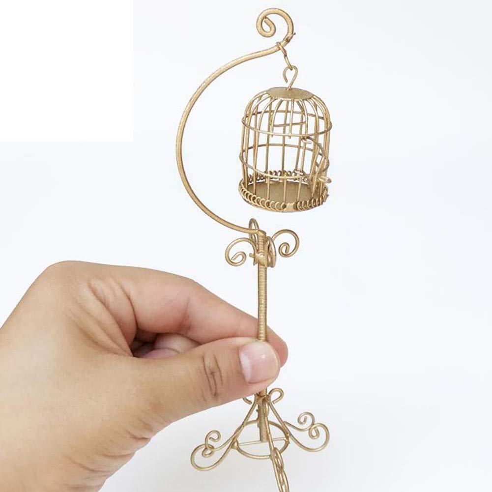 CASA delle Bambole Scala 1//12 METALLO IN OTTONE Birdcage in stand