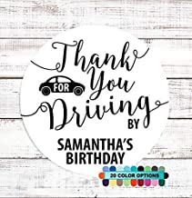 Thank You For Driving By Baby Shower or Birthday Stickers | Personalized Party Stickers