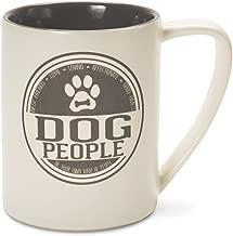 Pavilion Gift Company We People Dog People Ceramic Coffee Mug, Large, Gray