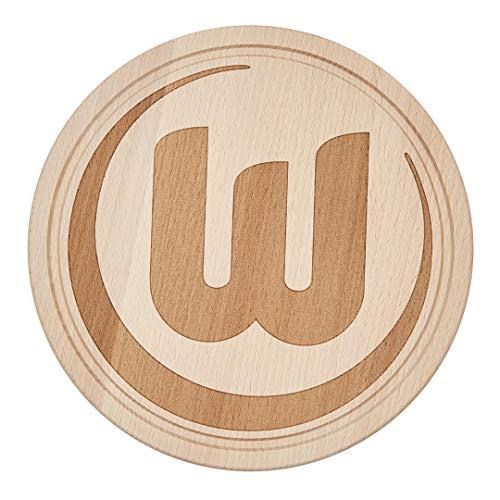 VfL Wolfsburg Holzbrett VFL Logo Ø 22cm