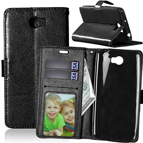 JEEXIA Funda para Huawei Y5 II, Moda Business Flip Wallet Case Cover PU Cuero...