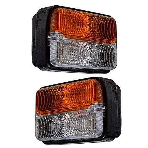 Traktor Blinker Vorne Bajato: Massey Ferguson Deutz Fahr Anderes Lampen Licht Set (Links Rechts) Mit Glühlampe 11001502