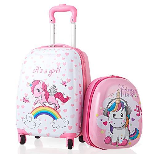 BestBuy 子供用 スーツケース キッズ用 キャリーケース リュックサック キッズキャリー キッズリュック 2点セット 機内持込み