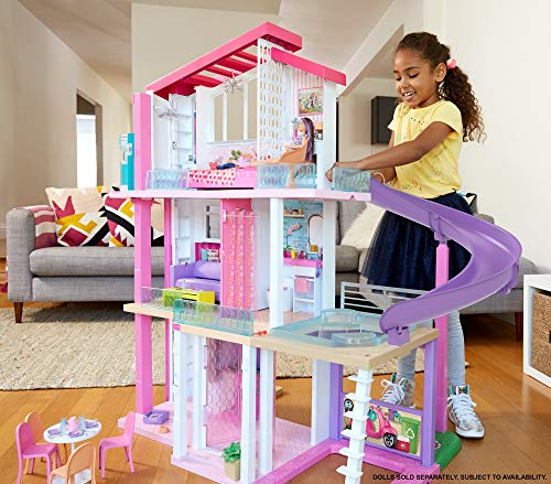 Maison de Rêve Barbie avec Garage Ascenseur Piscine et Glissade - 4