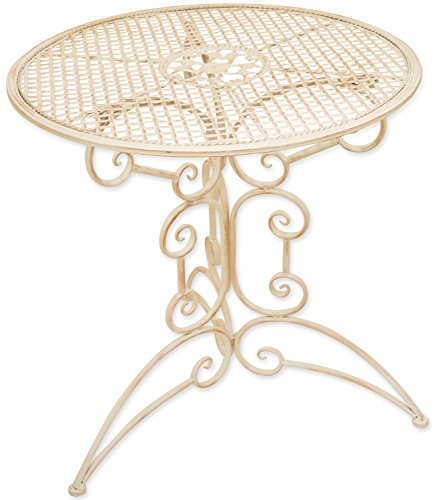 Woodside Small Round Outdoor Metal Coffee Table Garden Furniture