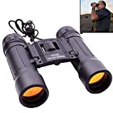 ZHENGTU Compact 10x25 Mini Binoculars Telescope Sports Hunting Camping Survival Kit - Black